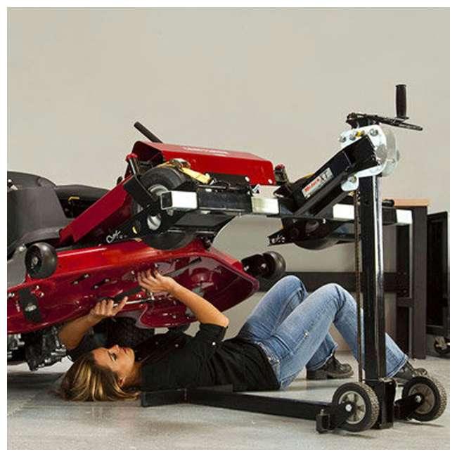 MJ00150-MJXT-U-B MoJack UPC Flat Folding 500lb Capacity Riding Lawn Tractor Mower Lift Jack(Used) 2