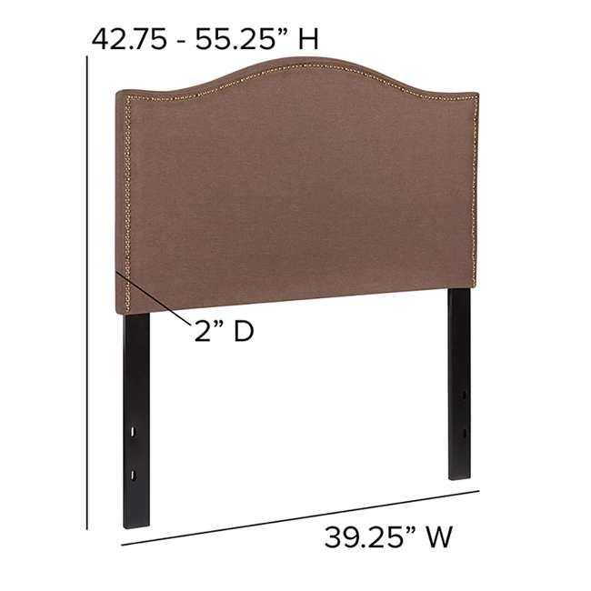 HG-HB1707-T-C-GG Flash Furniture Lexington Upholstered Twin Size Headboard with Camel Fabric 3