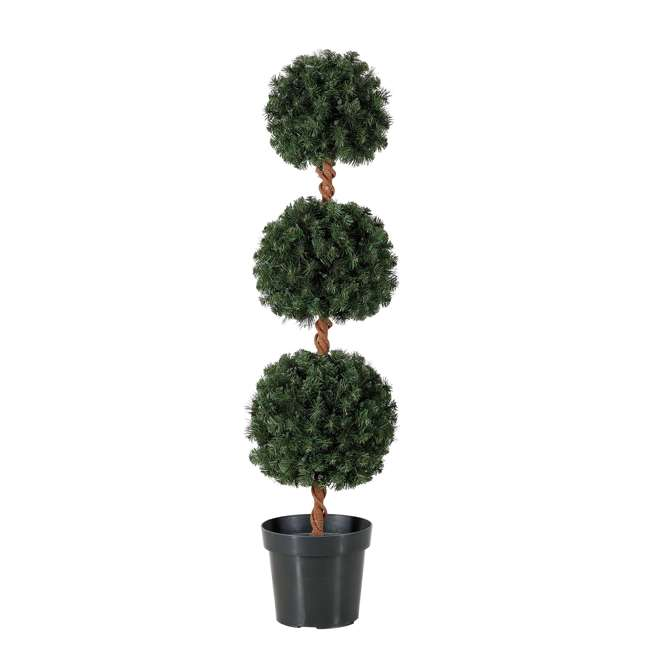 TP40M2W72C09 + TS40M3K08C01 Home Heritage 4 Foot Artificial Tree w/ Lights + 4 Ft Spiral Pine Tree w/ Lights 1