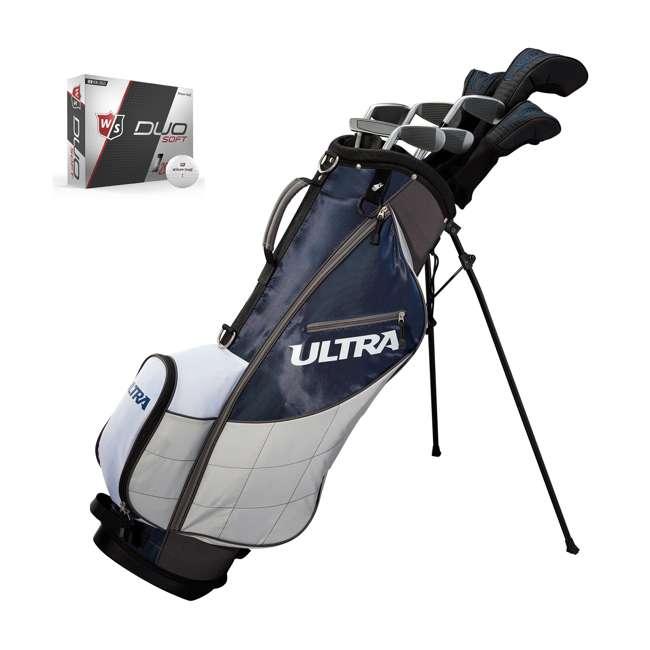 WGGC43600 + WGWP40000 Wilson Ultra Men's Right-Handed Complete Golf Club Set & Balls 11
