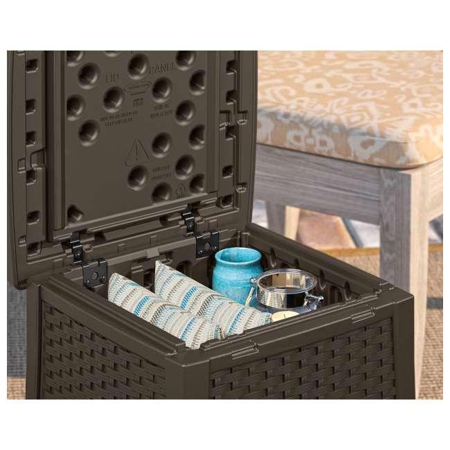 BMDB1310-U-A Suncast Elements 13-Gallon Patio End Table with Storage, Java (Open Box) 2