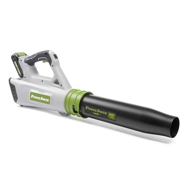 PBL120J + PLB12040 PowerSmith 20V Max Electric Powered Cordless Jet Leaf Blower with Extra Battery 1