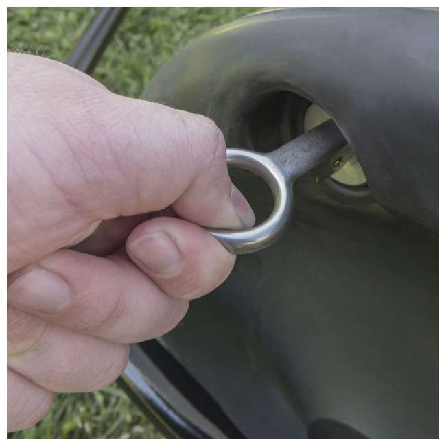 45-0268 Agri Fab 45-0268 18 x 36 Inch Poly Tow Lawn Grass Yard Landscape & Garden Roller 3