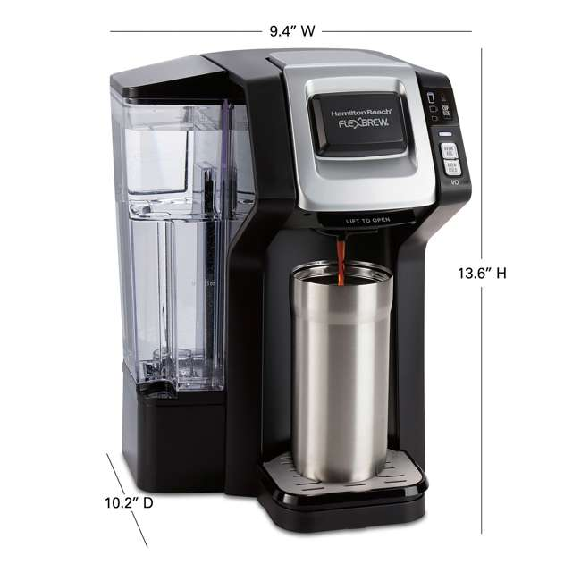 49975 Hamilton Beach 49975 FlexBrew 3 Size K Cup Single Serve Coffee Maker Brewer 3
