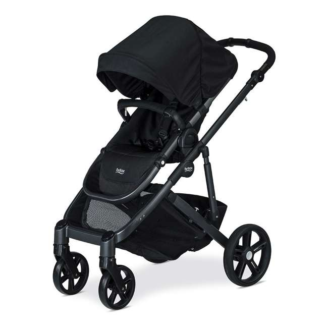 U911905 Britax U911905 B Ready G3 Folding Reclining Travel Canopy Baby Stroller, Black 2
