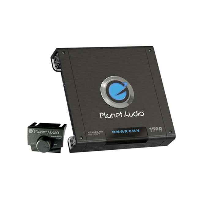AC15001M + AKS8 Planet Audio AC1500.1M 1500W Mono Amplifier with 8 Ga Amp Kit 1