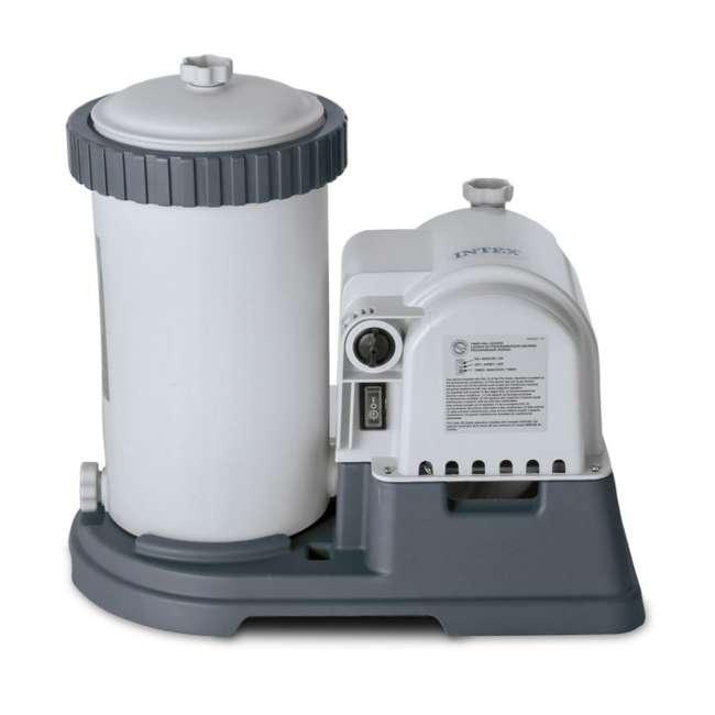 28633EG + 28000E Intex 2500 GPH Swimming Pool Filter Pump and Wall Mounted Surface Skimmer 1