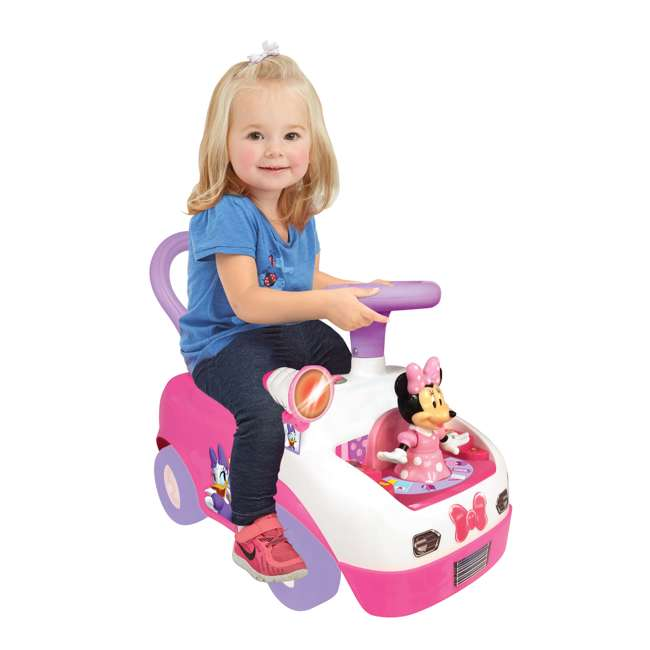 055541 Kiddieland Minnie Mouse Dancing Activity Ride-On Car, Pink 4