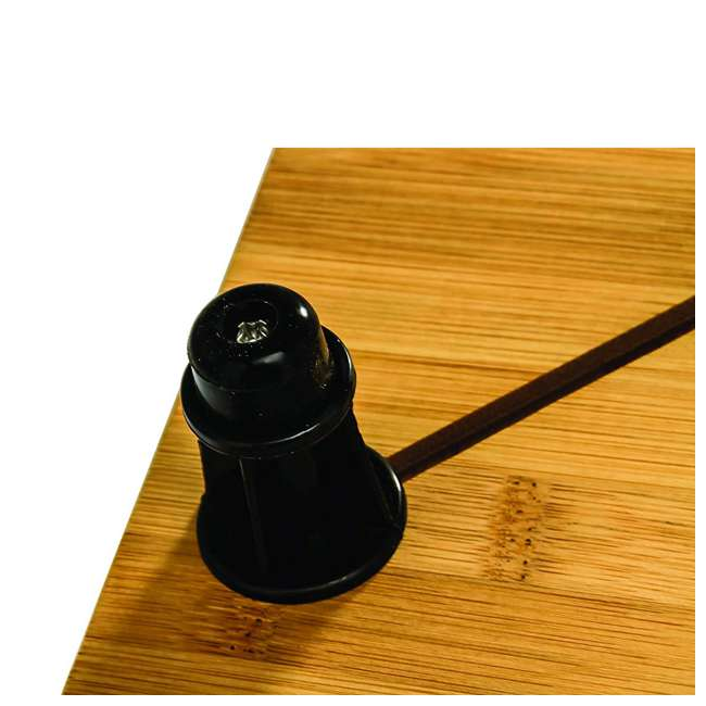 43548 Camco 43548 4 Burner Grooved Bamboo Stove Top Work Surface with Adjustable Legs 2