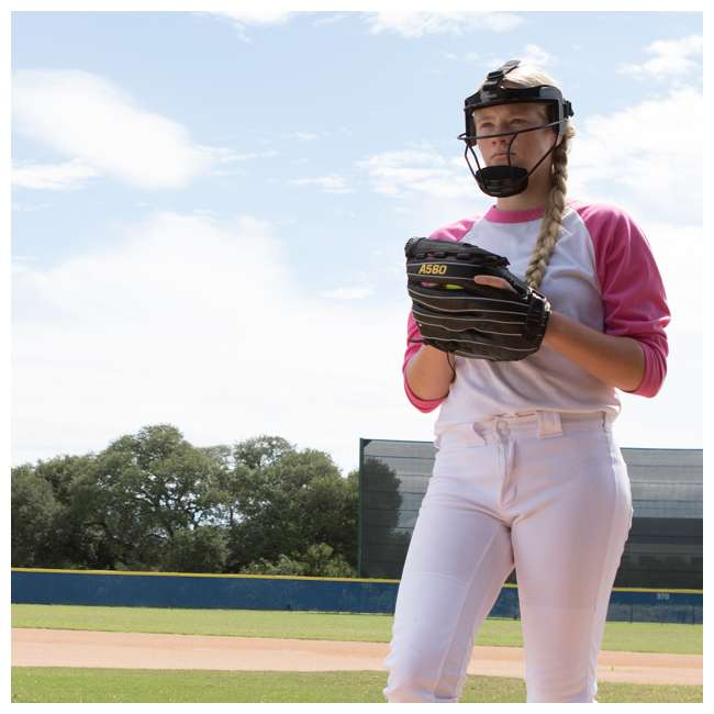 FMAWH Champion Sports FMAWH Adjustable Strap Adult Softball Fielder's Face Mask, White 2