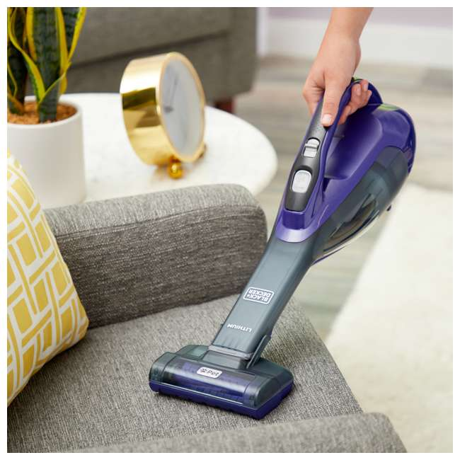 HLVA325JPS07 Black And Decker Dustbuster Pet Cordless Handheld Vacuum, Purple 5