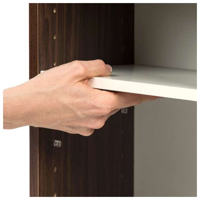 596308 IRIS USA 596308 Space Saving Adjustable Stackable Shelf Organizer, Walnut Brown 2