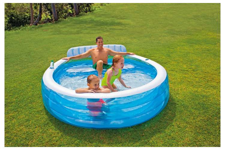 Intex Swim Center Inflatable Family Lounge Pool 57190ep