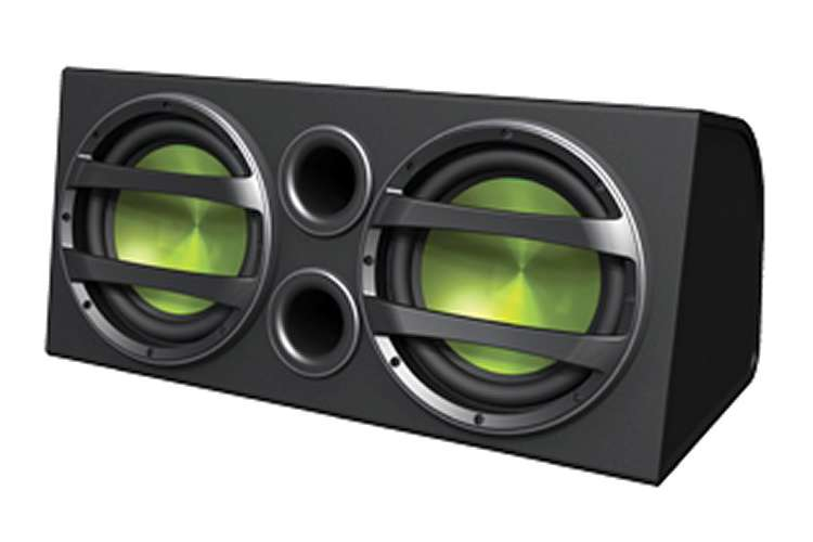 CSAW2120�Dual Fusion 12-Inch 750W Subwoofers/Amplifier/Sub Box