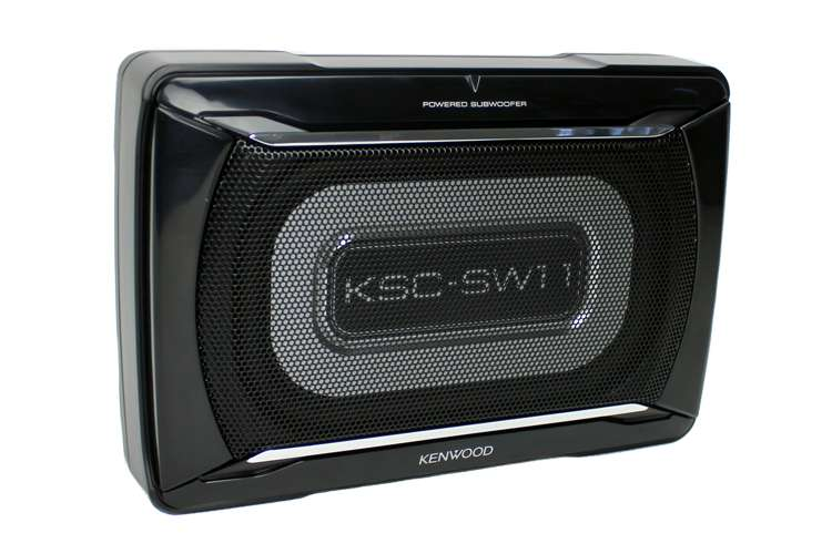 kenwood 8 1 4 inch x 5 1 8 inch 150w powered subwoofer. Black Bedroom Furniture Sets. Home Design Ideas