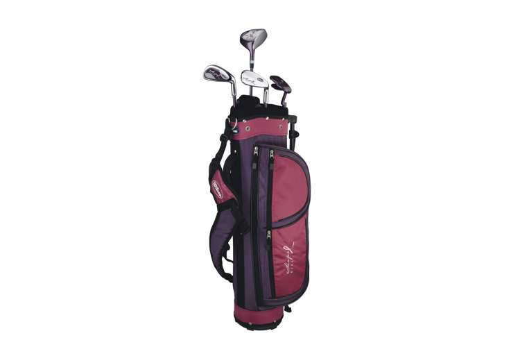 WGGC6806 + WGWR56500�Wilson Junior Golf Set | Girls Hope Golf Club Set w/ Bag + 1 Dozen FLI Balls