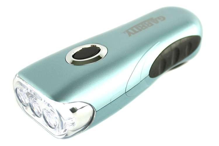 GARRITYLIGHT�Garrity K023G 3 Led Super Bright Crank Rechargeable Flashlight