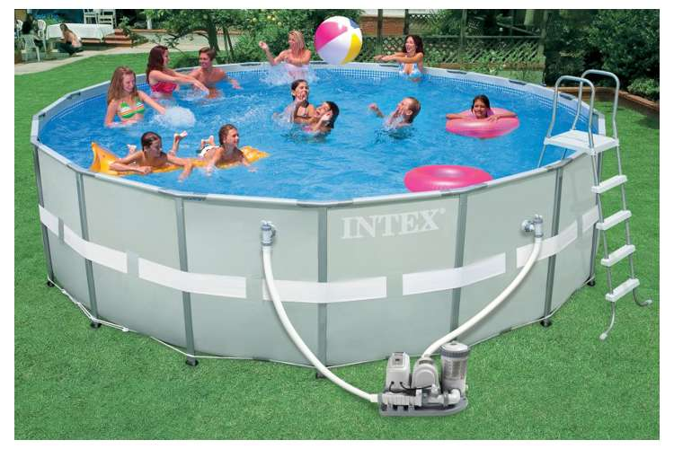 Intex 18 X 52 Ultra Frame Swimming Pool Complete Set 54471eb